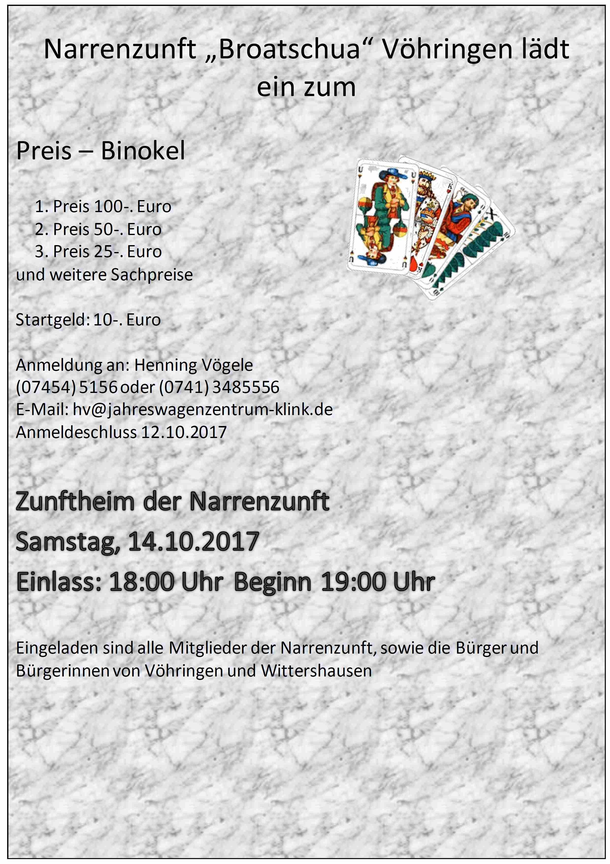 Preis - Binokel 2017